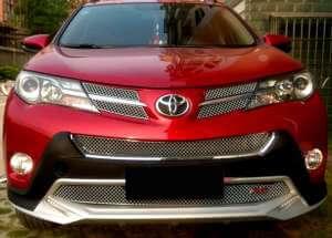Хромированная решетка радиатора Toyota Rav4 (2013-2015) (5 частей)