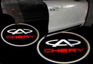Лазерная проекция с логотипом Чери - Chery