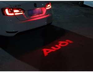 Задняя лазерная проекция с логотипом Audi