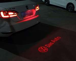 Задняя лазерная проекция с логотипом Volkswagen (Das auto)