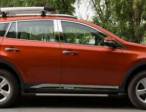 Молдинги на двери Toyota Rav4 (2013-2015) (2 тип)