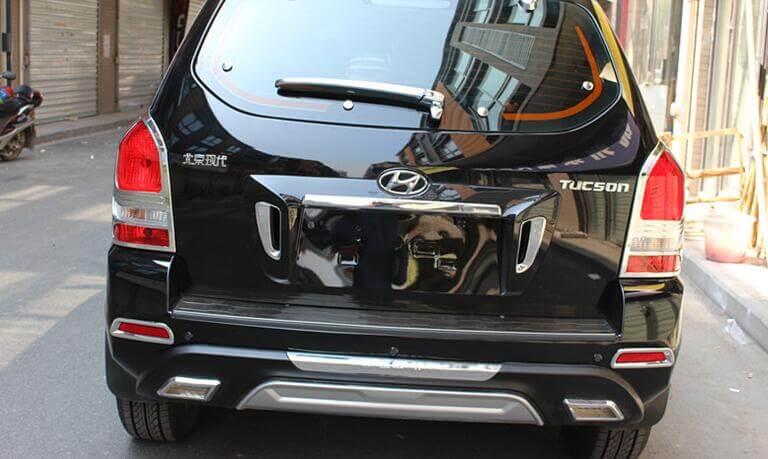 Хромированные накладки на задние фары Hyundai Tucson (2004-2010), фото 2
