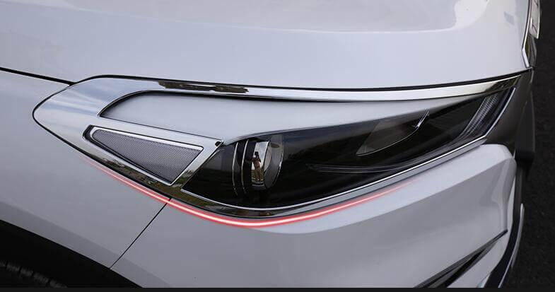 Хромированные накладки на передние фары Hyundai Tucson (2015-2016), фото 2