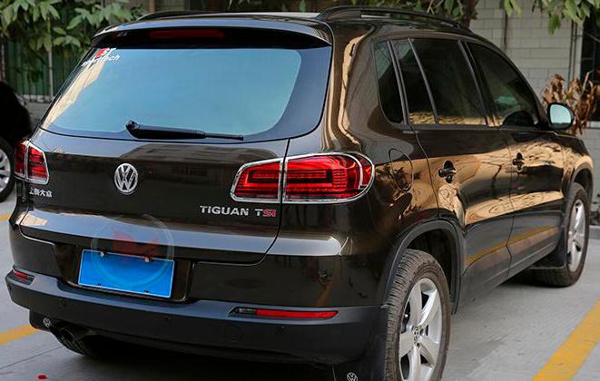 Хромированные накладки на задние фары Volkswagen Tiguan (2011-2016), фото 3