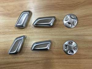 Накладки на кнопки регулировки сидений Audi Q7 (2015-2016)