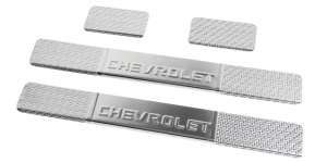 Накладки на пороги Chevrolet Aveo T300 Carbon