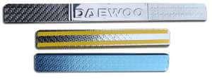 Накладки на пороги Daewoo Nexia Carbon