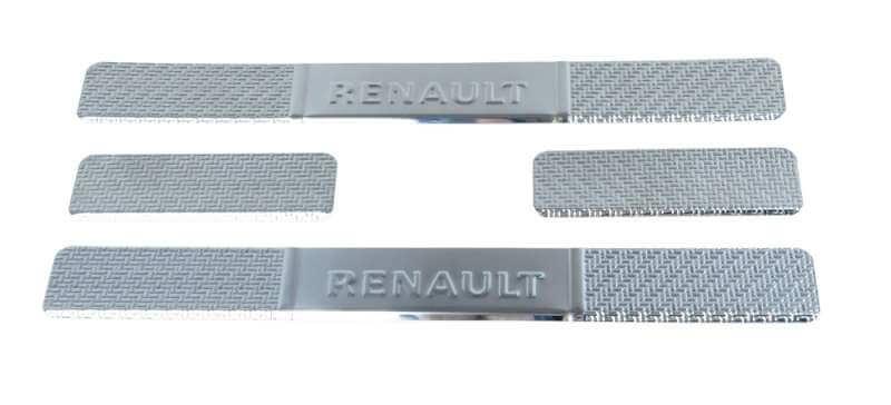 Накладки на пороги Renault Duster Carbon
