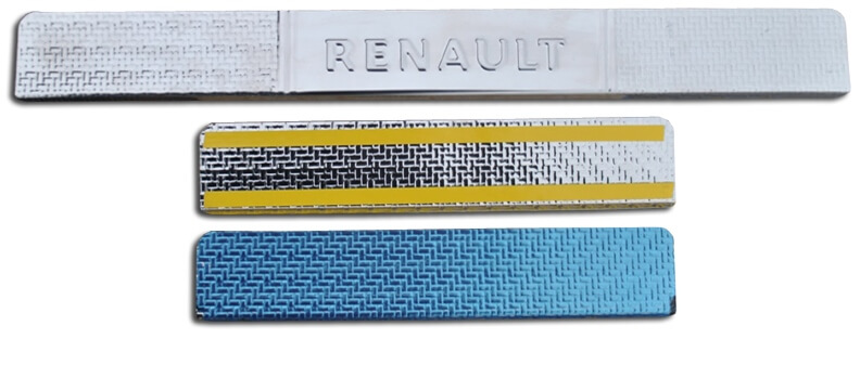 Накладки на пороги Renault Duster Carbon, фото 2