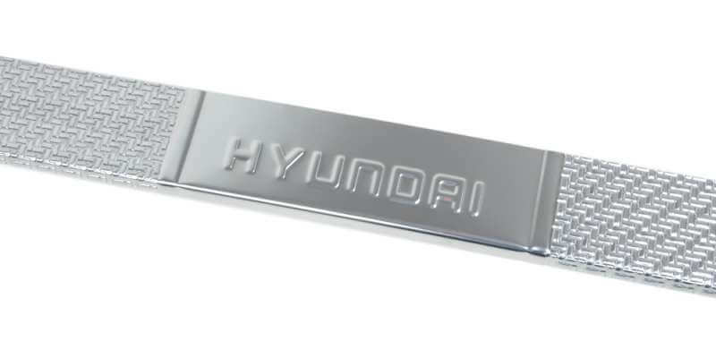Накладки на пороги Hyundai Solaris 2011-2013 Carbon, фото 3