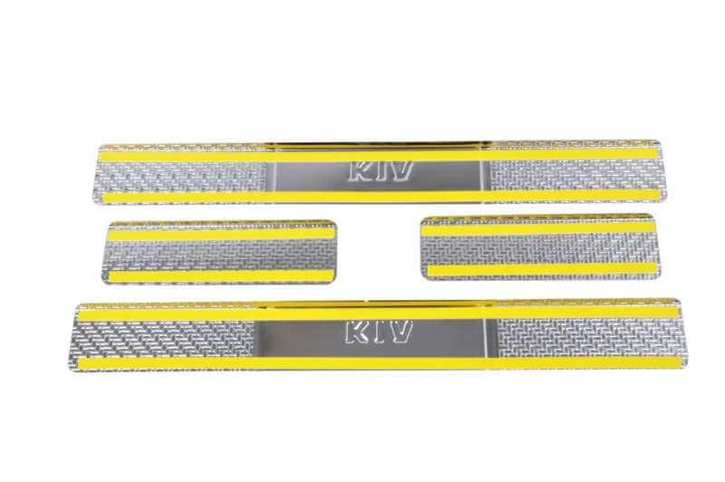 Накладки на пороги Kia Sportage Carbon, фото 2