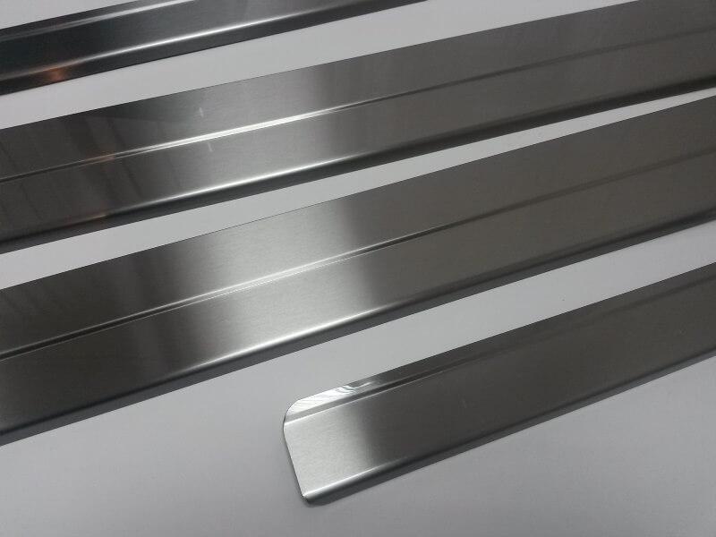 Накладки на пороги Nissan Qashqai, ступенчатые (без надписи), фото 3