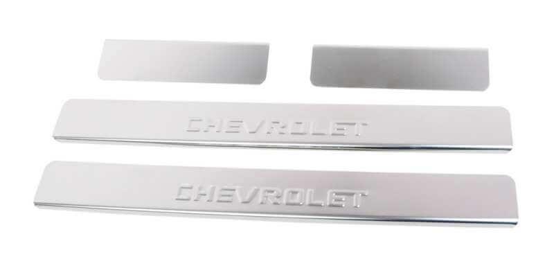 Накладки на пороги Chevrolet Epica (над. штамп), фото 3