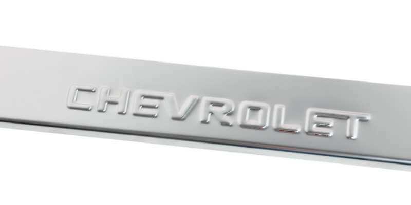 Накладки на пороги Chevrolet Epica (над. штамп), фото 4