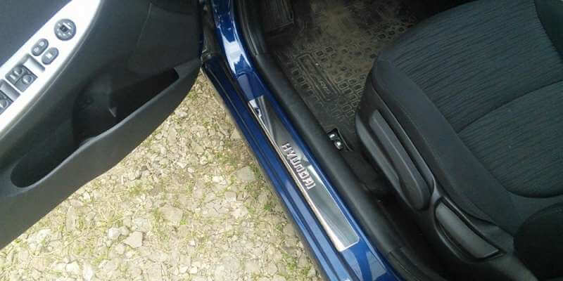 Накладки на пороги Hyundai i30 GD (над. штамп), фото 4