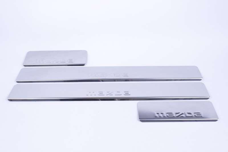 Накладки на пороги Mazda 6 GJ (над. штамп), фото 2