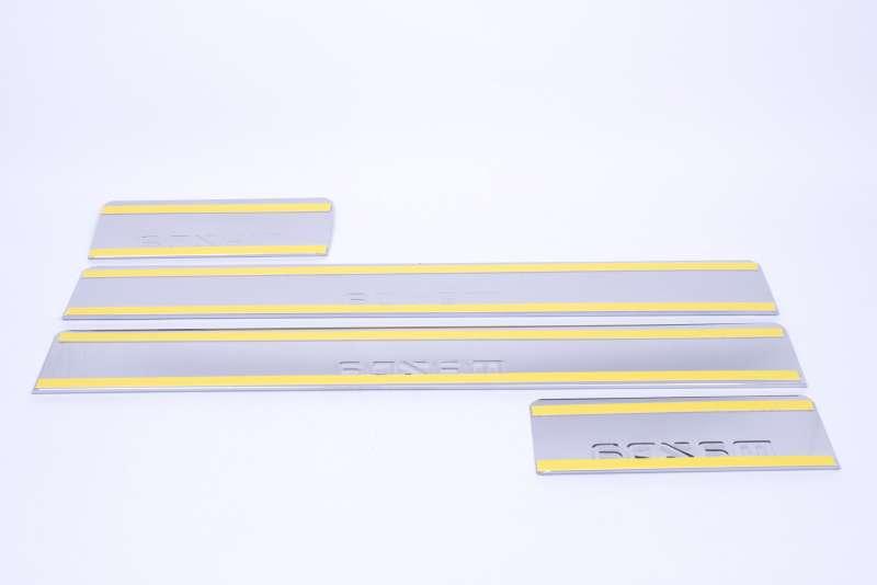 Накладки на пороги Mazda 6 GJ (над. штамп), фото 3