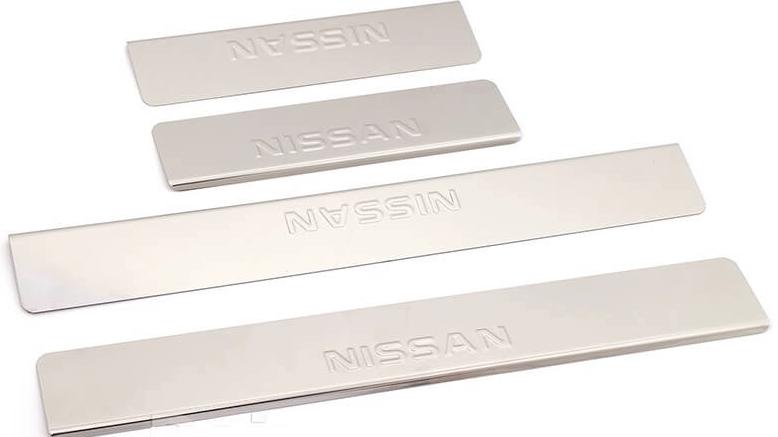 Накладки на пороги Nissan Qashqai J10 (над. штамп)