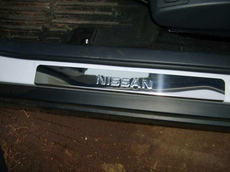 Накладки на пороги Nissan Qashqai J10 (над. штамп), фото 4