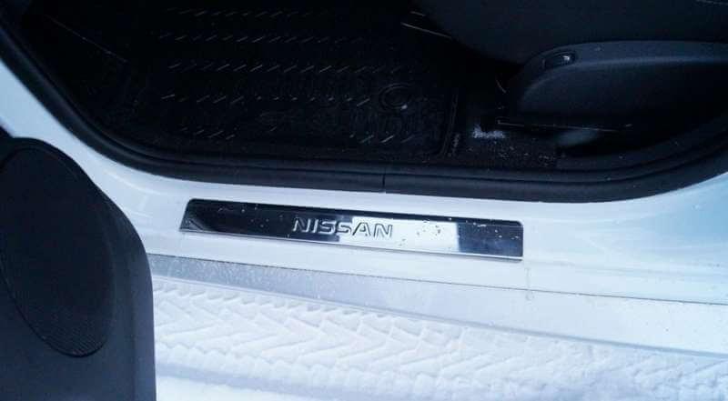 Накладки на пороги Nissan Qashqai J10 (над. штамп), фото 5