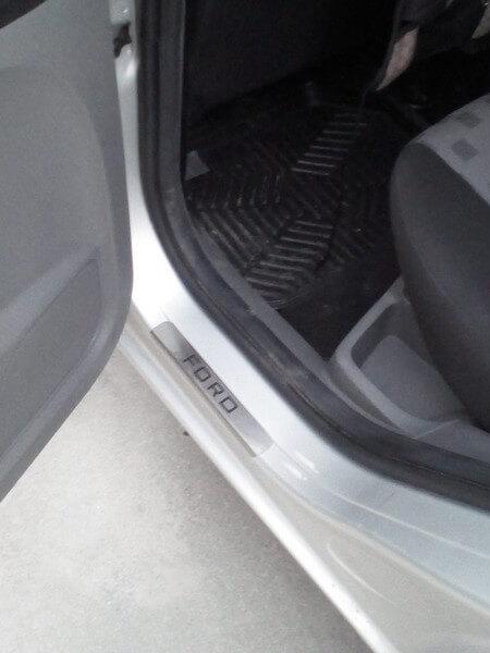 Накладки на пороги Ford Focus 3 (над. краска), фото 4