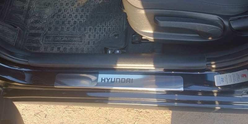 Накладки на пороги Hyundai Santa Fe 3 DM (над. краска), фото 5