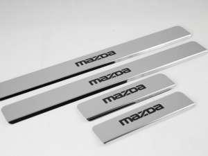 Накладки на пороги Mazda 5 (над. краска)