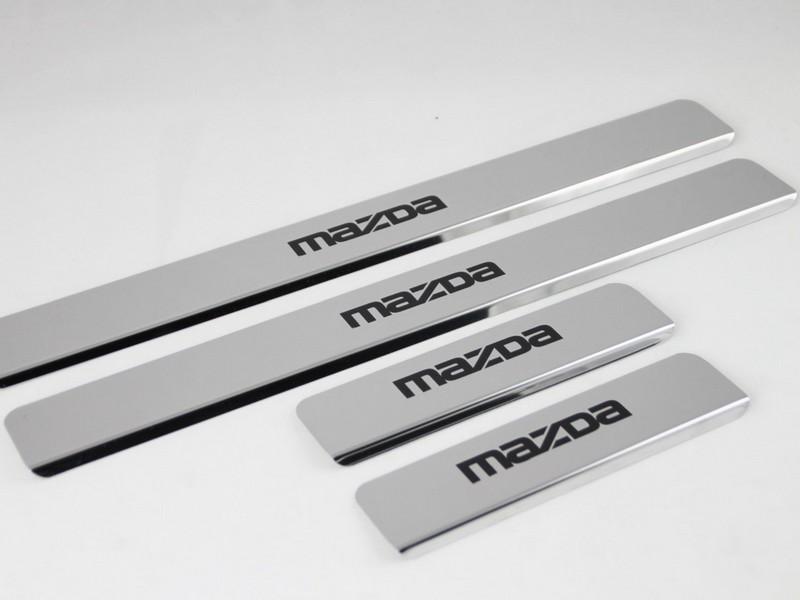 Накладки на пороги Mazda 6 GJ (над. краска)