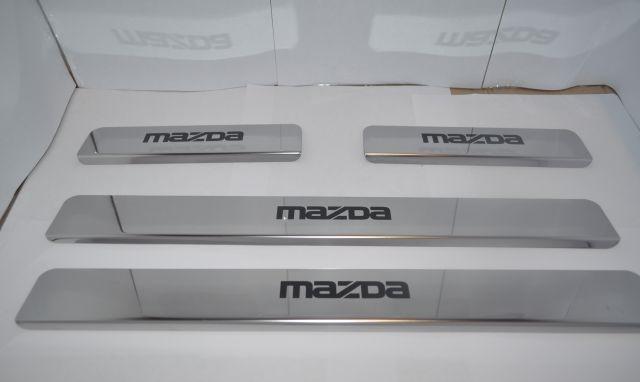 Накладки на пороги Mazda 6 GJ (над. краска), фото 2