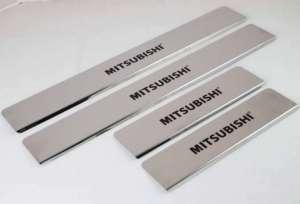 Накладки на пороги Mitsubishi ASX 2010 - 2013 (над. краска)
