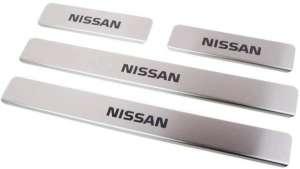 Накладки на пороги Nissan Almera G15 (над. краска)