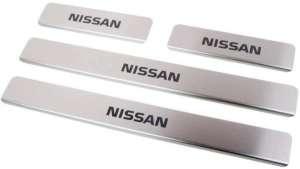 Накладки на пороги Nissan Almera (над. краска)