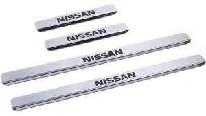 Накладки на пороги Nissan Qashqai J11 (над. краска)