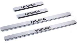 Накладки на пороги Nissan Note (над. краска)