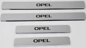 Накладки на пороги Opel Insignia 2013 - 2017 (над. краска)