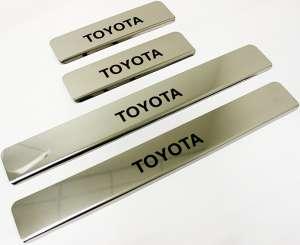 Накладки на пороги Toyota Corolla (над. краска)