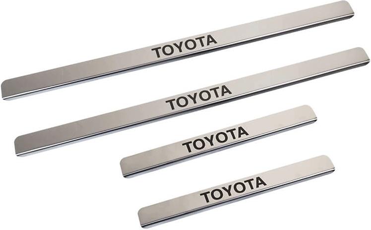 Накладки на пороги Toyota Corolla E170 (над. краска)