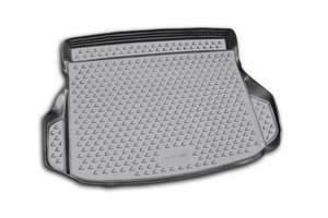 серый коврик в багажник MITSUBISHI Pajero Sport 1997-2008, внед. (полиуретан, серый)