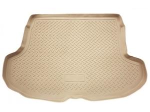 Бежевый коврик в багажник AUDI Q7 2006->, кросс. (полиуретан, Бежевый)