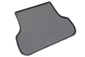Черный коврик в багажник PEUGEOT 408, 2012- сед. (полиуретан)