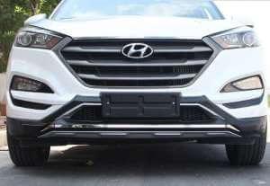 Защитная накладка бампера передняя Hyundai Tucson (2015-2017)