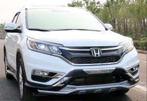 Защитная накладка бампера Honda CRV (2015-2017)