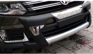 Защитная накладка бампера Volkswagen Tiguan (2013-2014, Китай)