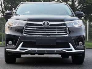 Защитная накладка бампера Toyota Highlander (2014-2016)