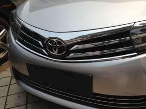 Накладка под решетку радиатора Toyota Сorolla (2012-2016)