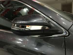 Накладки из нерж. стали на зеркала заднего вида Toyota Highlander (2014-2016)