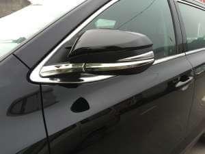 Накладки (нижние) на зеркала заднего вида Toyota Highlander (2014-2016)