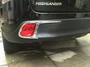 Накладки на задние ПТФ Toyota Highlander (2013-2016)