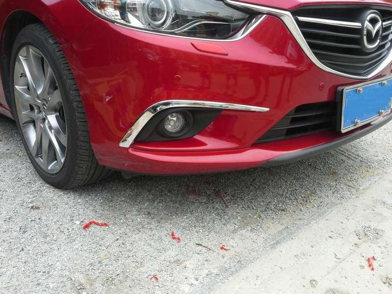 Накладки на передние ПТФ Mazda 6 (2012-2015)