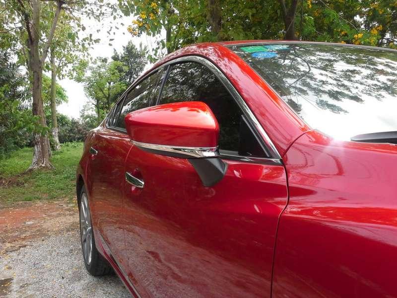 Хром полоски на зеркала заднего вида Mazda 6 (2012-2015), фото 3